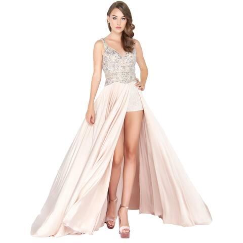 Mac Duggal Womens Romper Prom Embellished