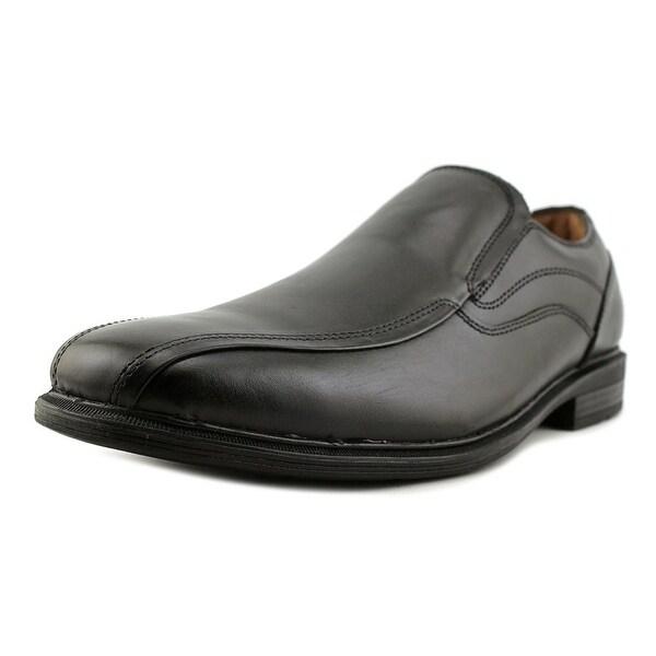 GH Bass & Co Glenn Men Square Toe Leather Black Loafer