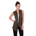 Simply Ravishing Women's Basic Sleeveless Open Cardigan (Size: Small-5X) - Thumbnail 3