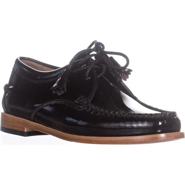 G.H. Bass & Co. Winnie Tuxedo Loafers, Black - 7.5 us / 38.5 eu