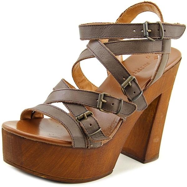 Musse & Cloud Maisha Women Open Toe Leather Platform Sandal