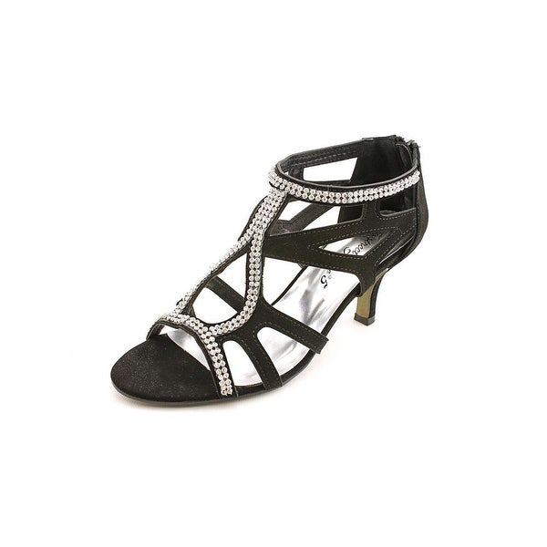 Easy Street Flattery Women Blk Sandals