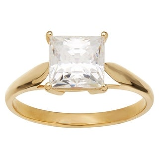 gold cubic zirconia rings gold sliver rings overstockcom - White Gold Cubic Zirconia Wedding Rings