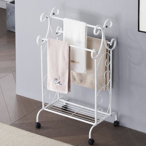 VECELO Metal Wire Simple Scrollwork Towel Rack