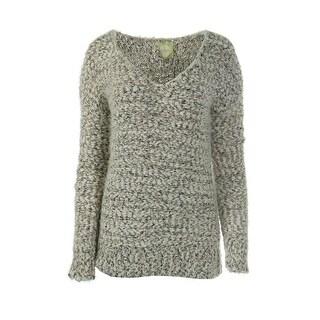 Alythea Womens Tunic Sweater Metallic Fuzzy