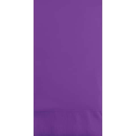 """Club Pack of 192 Amethyst Purple 3-Ply Disposable Party Paper Guest Napkins 8"""" - N/A"""