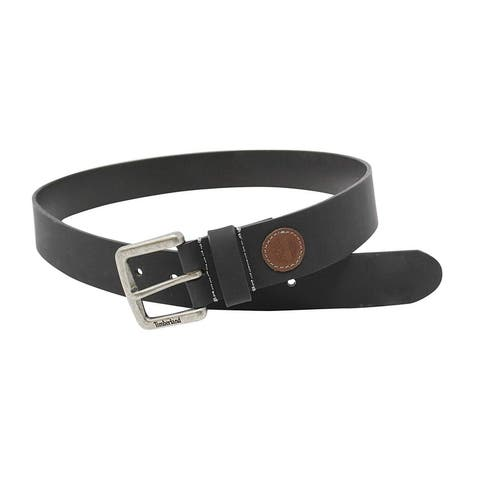 Timberland Mens 38Mm Tree Patch Classic Leather Jean Belt, Adult