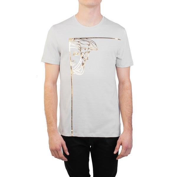 44ada0abd Versace Collection Men's Cotton Angular Medusa Graphic T-Shirt ...