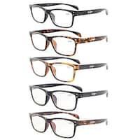 Eyekepper 5-Pack Quality Spring-Hinges Sport Style Reading Glasses+0.75