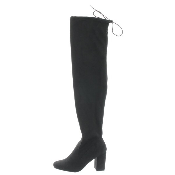Chinese Laundry Womens Kiara Over-The-Knee Boots Stretch Block Heel