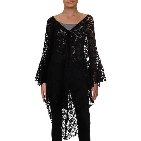 Free People Womens Move Over Kimono Cotton Lace