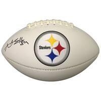 Antonio Brown Signed Pittsburgh Steelers Logo Football JSA