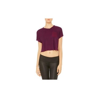 Alo Yoga Womens Veil Pullover Top Crop Front Pocket