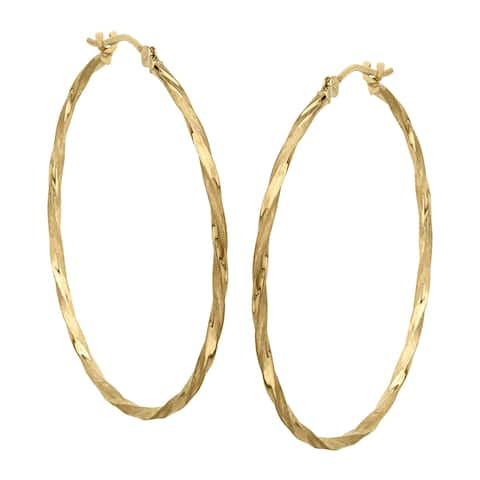 ed4d771ed Hoop Earrings | Find Great Jewelry Deals Shopping at Overstock