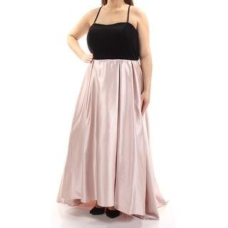 BETSY & ADAM $299 Womens New 1114 Pink Spaghetti Strap Dress 16W Plus B+B