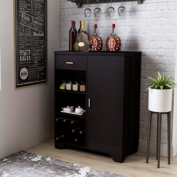 Furniture of America Valentino Contemporary Multi-storage Bar Cabinet. Opens flyout.