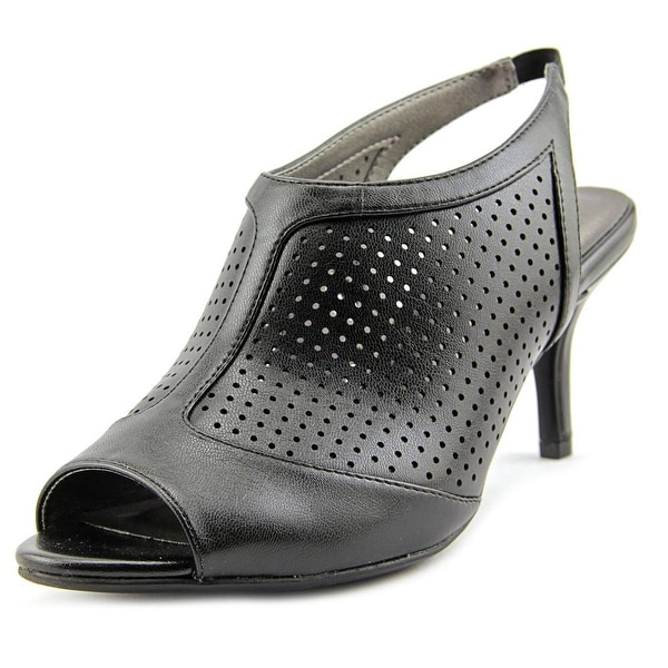 Life Stride Norwood Women  Peep-Toe Synthetic Black Slingback Heel