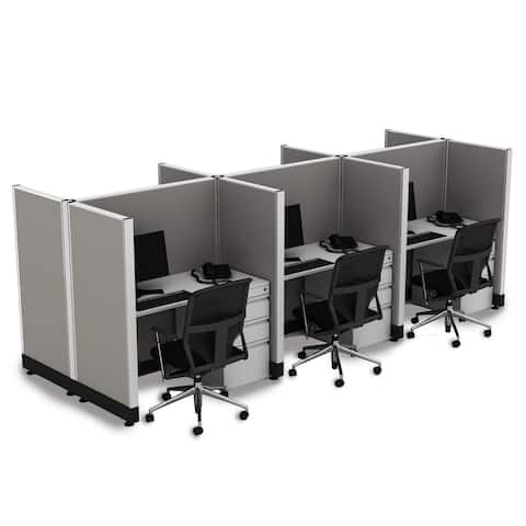 Office Cubicle Desk 53H 6pack Cluster Unpowered