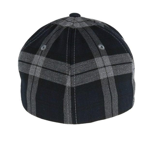 BRAND NEW GREY PLAID FLEXFIT PLAIN STRETCHFIT BASEBALL CAP HAT VARIOUS SIZES