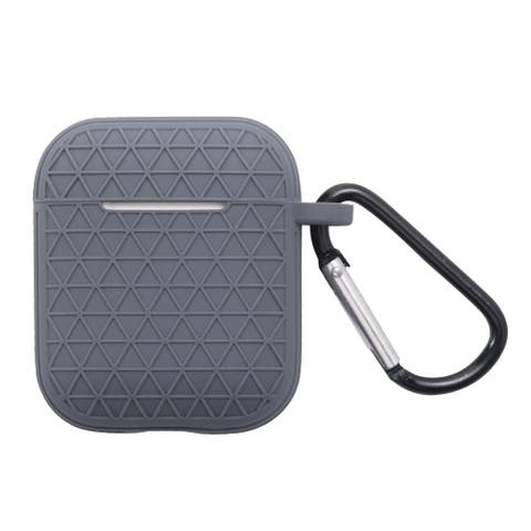 For Apple AirPods 1/AirPods 2 Grey Skin Textured Case Cover