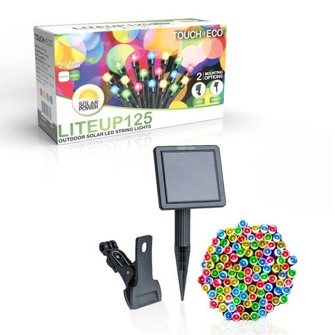 Solar Powered 125 LED String Light - Multiple Color Options
