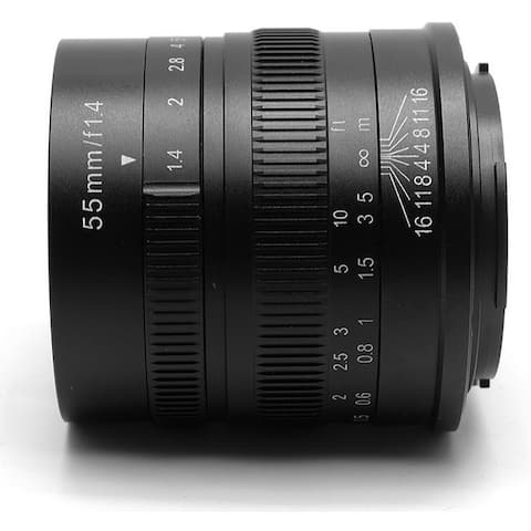7artisans 55mm f/1.4 Manual Fixed Lens (Black) for Sony E-Mount Cameras - Black