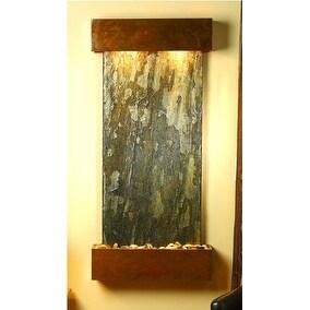 Adagio Cascade Springs Wall Fountain Green Solid Slate Rustic Copper - CSS1002