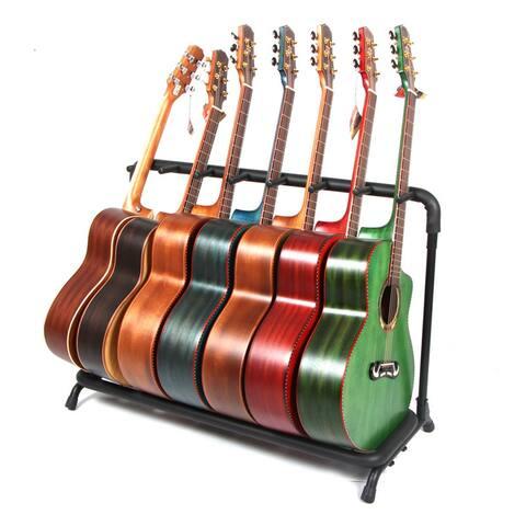 7-Slot Guitar Holder Rack Stand Black