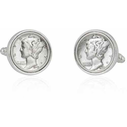 Mercury Dime Coin Coin Collector Cufflinks