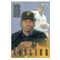 Lou Collier Autographed Baseball Card Pittsburgh Pirates 1998