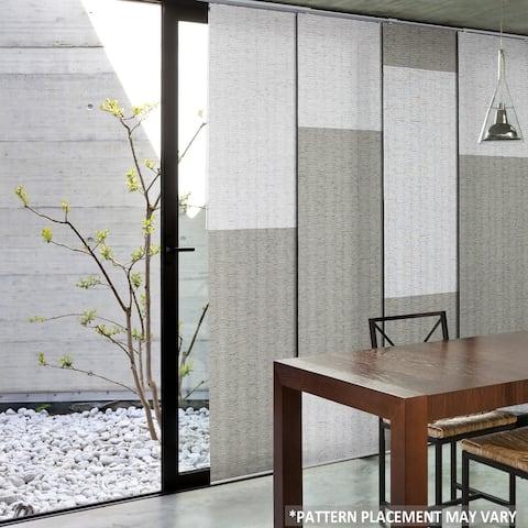 "GoDear Design Natural Woven Adjustable Sliding Panel, City Series, 45.8""- 86"" W x 96"" L"