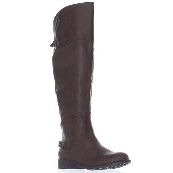 AR35 Ada Wide Calf Tall Boots, Brown