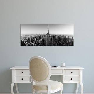 Easy Art Prints Panoramic Image 'View of a cityscape, Empire Building, Manhattan, New York City, New York' Canvas Art