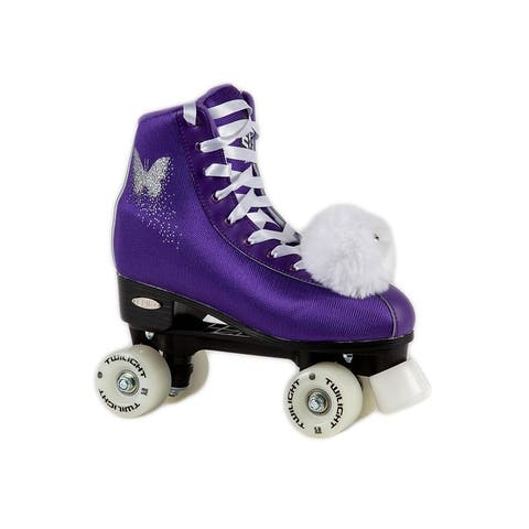 Epic Purple Butterfly Quad Light Up Roller Skates
