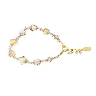 Dabby Reid Womens Ronnie Mae Hand Crafted Crystal Bracelet - Gold