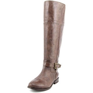Marc Fisher Aysha Women Round Toe Leather Brown Knee High Boot