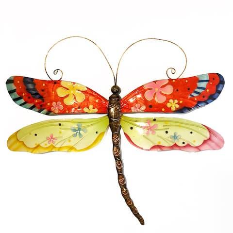 Handmade Dragonfly Flower Power - 14 x 1 x 12