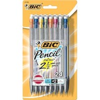 BIC Xtra Life Mechanical Pencils, 0.5 mm Tip, Assorted Shimmer Barrel, Pack of 24