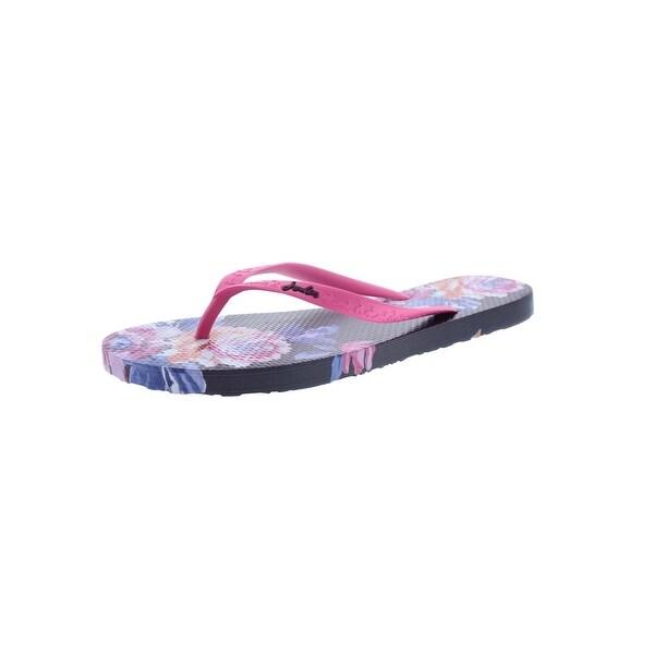 Shop Joules Womens Sandy Flip-Flops Thong Textured - Free -9548