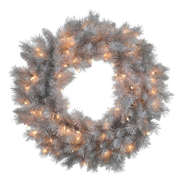 """24"""" Silver White Wreath with 120T 50CL"""