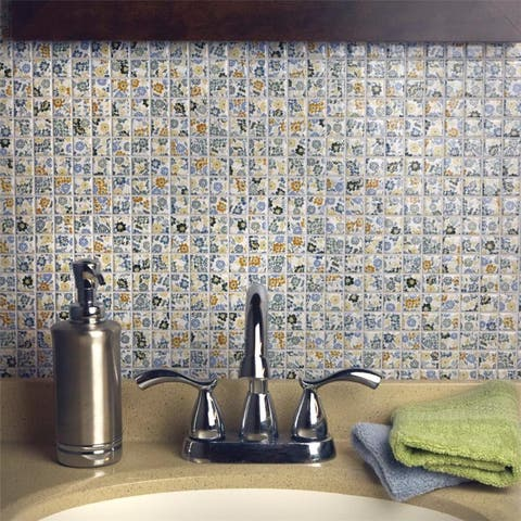 SomerTile 12x12-inch Spring Flora Porcelain Mosaic Floor and Wall Tile