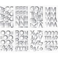 Club Pack of 96 Shiny Silver Decorative Foil Letters and Number Banner Stickers 9.6""
