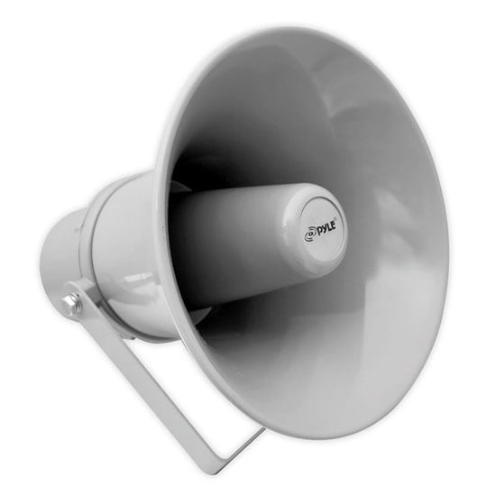 9.7'' Indoor / Outdoor 20 Watt PA Horn Speaker w/ 70V Transformer