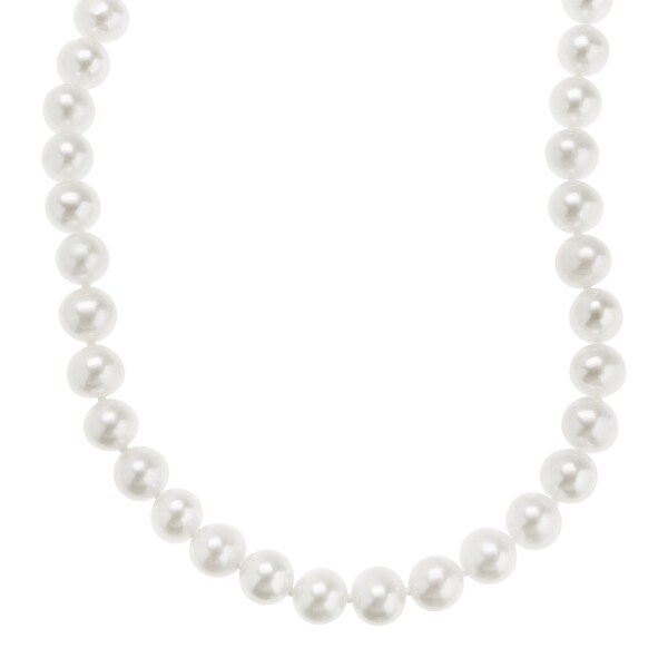 Honora 7-7.5 mm Freshwater Pearl Classic Strand Necklace in 10K Gold