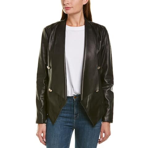 Tahari Penelope Leather Jacket