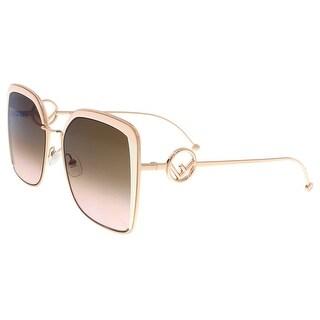 FENDI 0294/S LN 35J Pink Square Sunglasses - 55-19-140