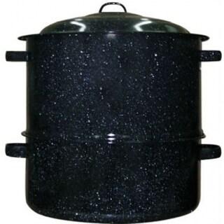Granite-Ware 6317-1 Ceramic-On-Steel 2-Tier Clam & Lobster Steamer, 19 Qt