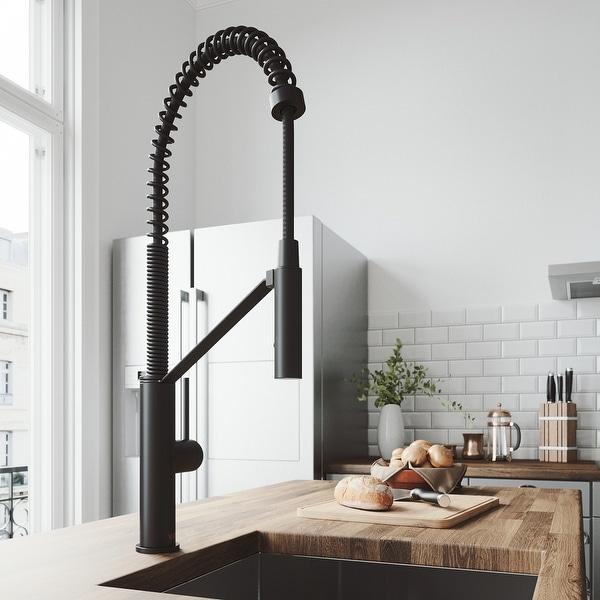 VIGO Livingston Matte Black Magnetic Kitchen Faucet. Opens flyout.