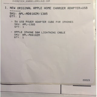 Apple Original Home Charger Adapter USB Cable