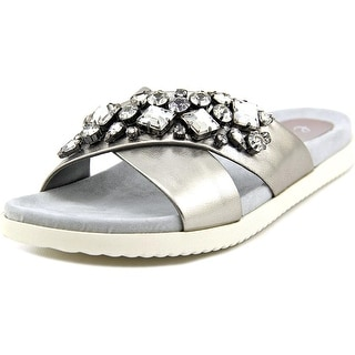 Easy Spirit Marvina Women Open Toe Leather Slides Sandal